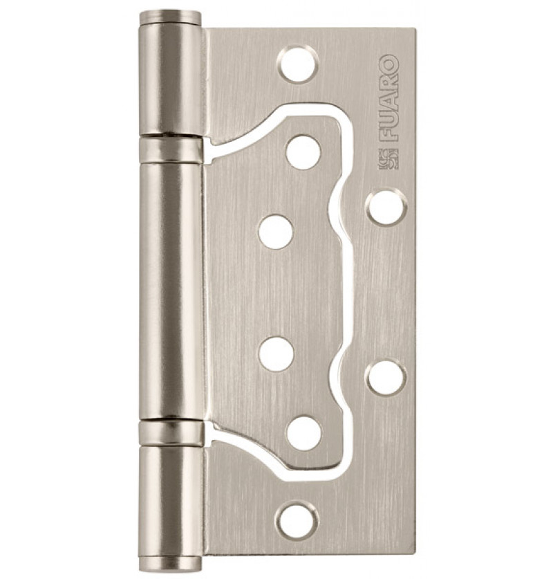 Петля универсальная Fuaro (Фуаро) без врезки 500-2BB 100x2,5 PN (мат. никель)