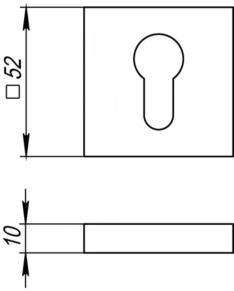 Накладка под Fuaro (Фуаро) цилиндр ET DM SN-CP-3 матовый никель-хром