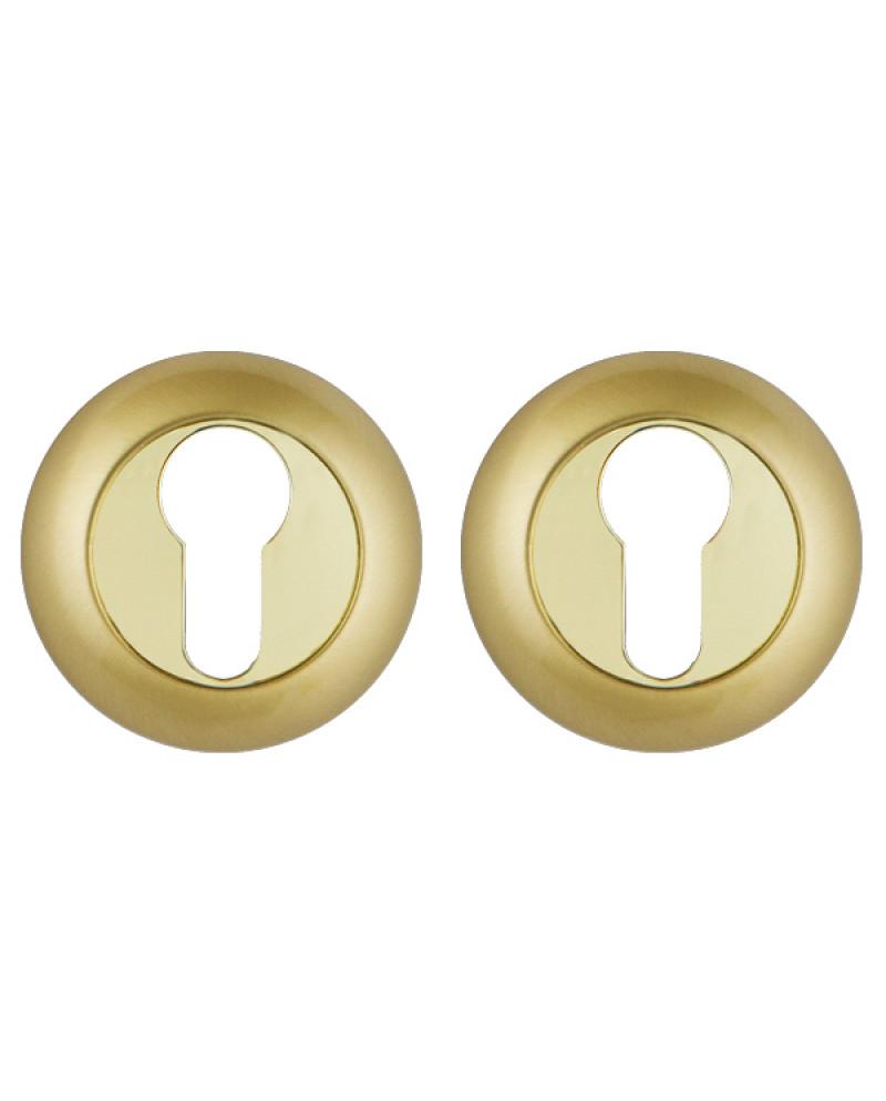 Накладка под Punto (Пунто) цилиндр ET TL SG-GP-4 матовое золото-золото